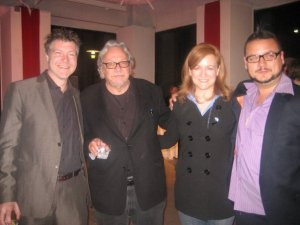 Editor Eric Grush, Dean Rosen, Producers Melinda Augustina and Jesse Rivard